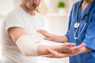 Health Benefits of Grape Seed Extract - Man receiving wound care